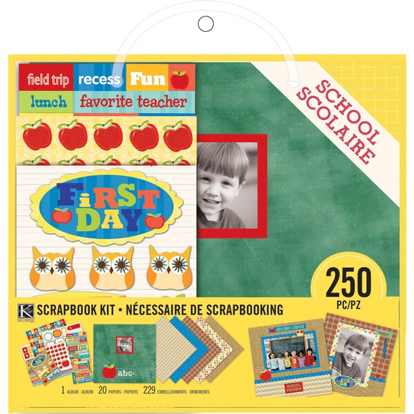 """Scrapbook Kit 8""""X8""""-School"""