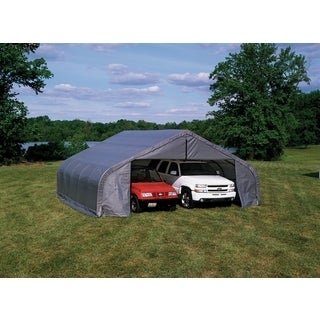 Shelterlogic Peak Style 22-foot by 20-foot Grey Outdoor Storage Garage