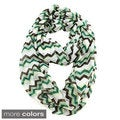 Le Nom Multicolored Chevron Infinity Scarf
