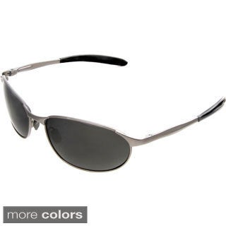 Hot Optix Men's Polarized Metal Wrap Sunglasses
