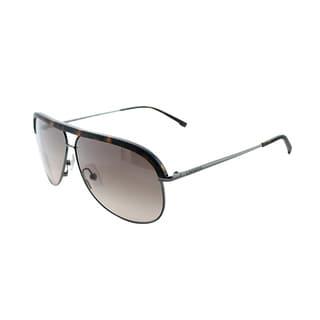 Lacoste Unisex 'LA 126 214' Havana Metal Sunglasses