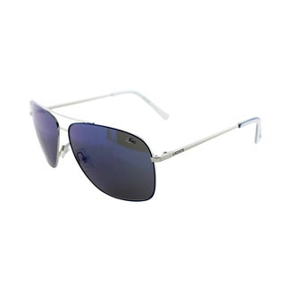 Lacoste Men's 'LA 128 045' Blue and White Metal Sunglasses