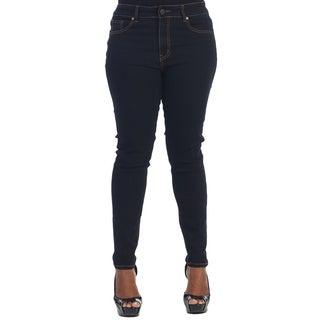 Hadari Women's Plus Dark Denim Pants