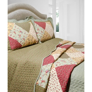 Slumber Shop Oakridge 3-piece Reversible Quilt Set
