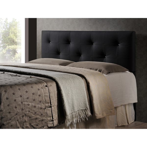 Baxton Studio Kirchem Black Modern Upholstered Headboard (As Is Item)