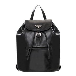 Prada Black Soft Leather Backpack