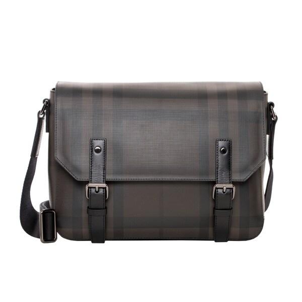 Burberry Gifford Small Smoked Check Messenger Bag