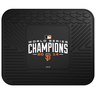 Fanmats 2014 World Series Championship San Francisco Giants Black Vinyl Utility Mat