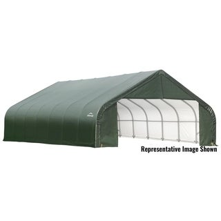 Shelterlogic Peak Style 30-foot by 28-foot Green Outdoor Storage Garage