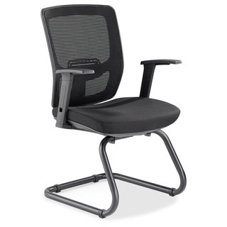 Lorell Variable-Resist Lumbar Guest Chair with Arms