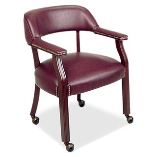 Lorell Traditional Captain Side Chair With Casters