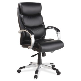 Lorell Executive Bonded Leather High-back Chair