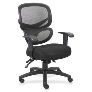 Lorell Mesh-Back Fabric Executive Chair