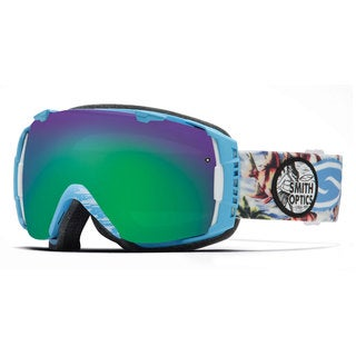 Smith Optics 2015 Blue Burnout Green Sol-X IO Goggles