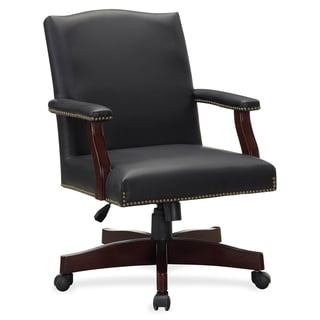 Lorell Traditional Executive Bonded Leather Chair - Black
