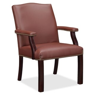 Lorell Bonded Leather Guest Chair - burgundy