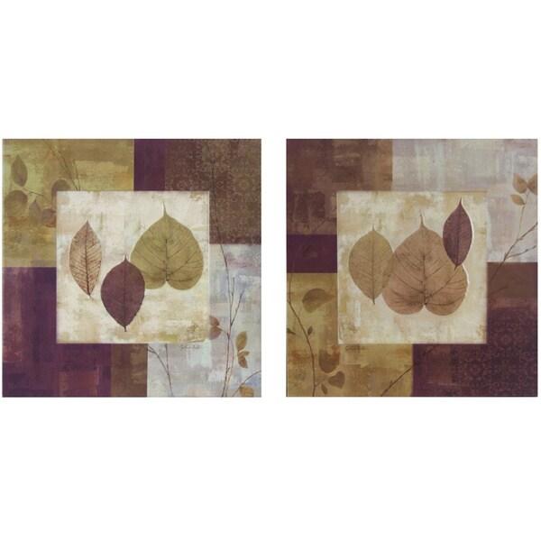 Leaf Study Framed Prints (Set of 2)