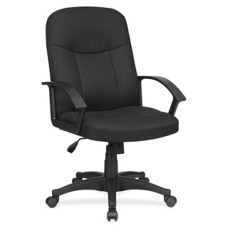 Lorell Executive Fabric Mid-back Chair - Black
