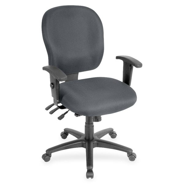 Lorell Adjustable Waterfall Design Task Chair - Grey