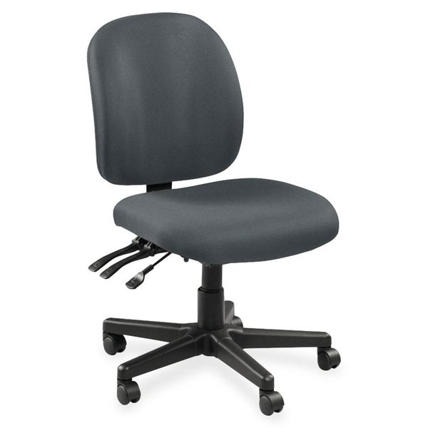 Lorell Mid-back Task Chair without Arms - Grey