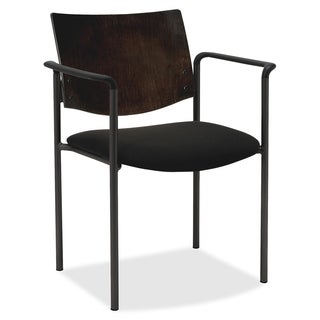 Lorell Guest Chair with Arms - espresso