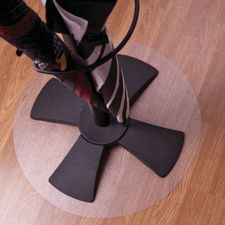 Floortex Cleartex Polycarbonate Circular General Purpose Mats for Hard Floors - 36-inch Diameter