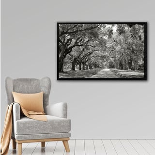 Steve Ainsworth 'Live Oak Avenue' Floater-framed Gallery-wrapped Canvas