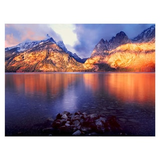 Dean Uhlinger 'Jenny Lake Sunrise' Unwrapped Canvas