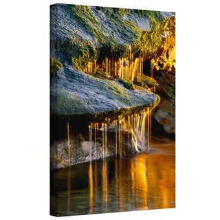 Dean Uhlinger 'Dripping Sunlight' Gallery-wrapped Canvas