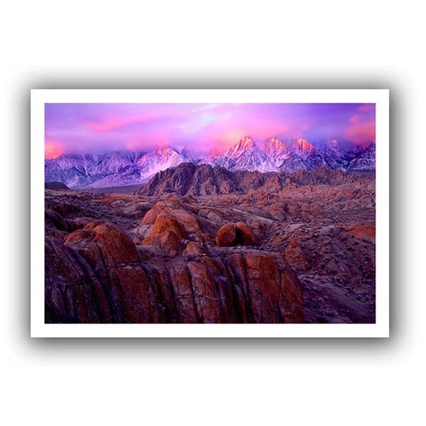 Dean Uhlinger 'Eastern Sierra Sunrise' Unwrapped Canvas - Multi 14184919