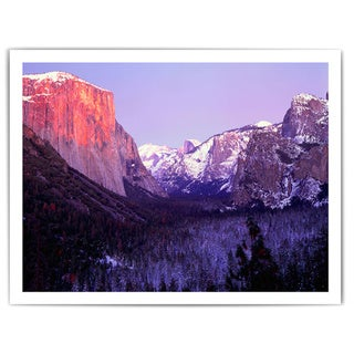 Dean Uhlinger 'Yosemite Valley Winter' Unwrapped Canvas
