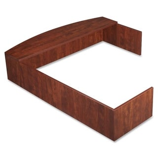 Lorell Essentials Series L-Shaped Reception Counter - Cherry