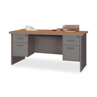 Lorell Durable Double Pedestal Desk