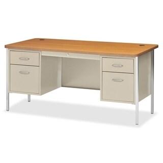 Lorell Fortress Series Double Ped Teacher's Desk