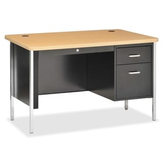 Lorell Fortress Series Single Ped Teacher's Desk