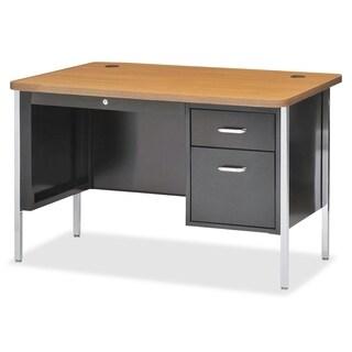 Lorell Fortress Series Single Ped Teacher's Desk