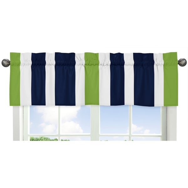 Sweet Jojo Designs Navy Blue/ White Stripes Window Valance