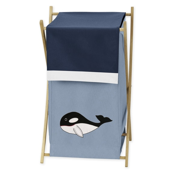 Sweet Jojo Designs Ocean Blue Laundry Hamper