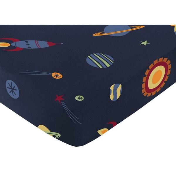 Sweet Jojo Designs Space Galaxy Fitted Crib Sheet