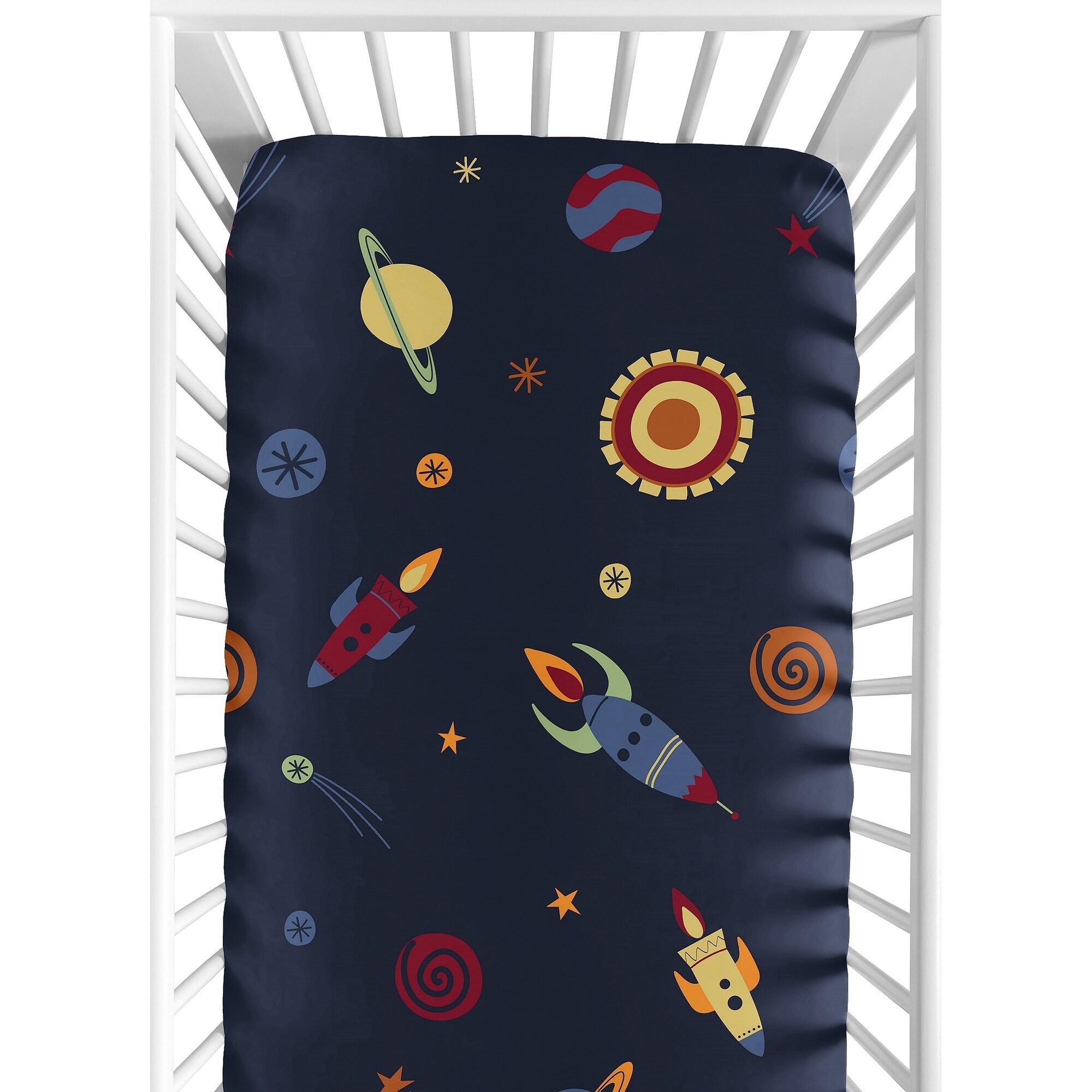 Sweet Jojo Designs Space Galaxy Fitted Crib Sheet at Sears.com