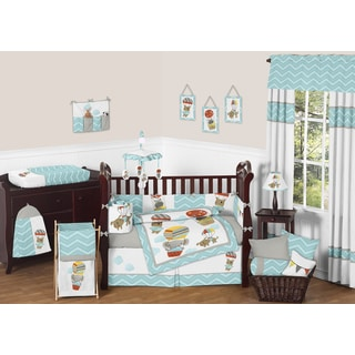 Sweet Jojo Designs Balloon Buddies 9-piece Crib Bedding Set