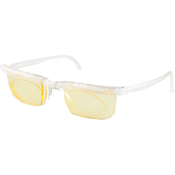 Interface Crystal Frame Yellow Lens Sunglasses