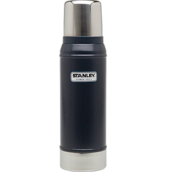 Stanley Classic 25-ounce Vacuum Bottle, Hammertone Navy