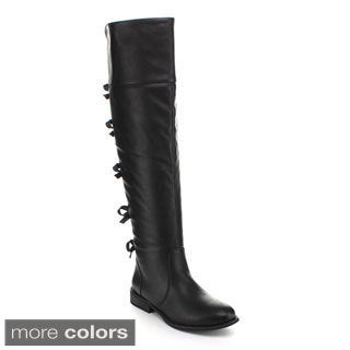 Spring Land Women's Bow-back Riding Boots