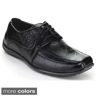 Miko Lotti Men's 'Zta09' Shiny Lace-up Oxford Loafers