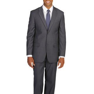 Caravelli Italy Men's Big & Tall 'Super 150' Grey 2-button Suit