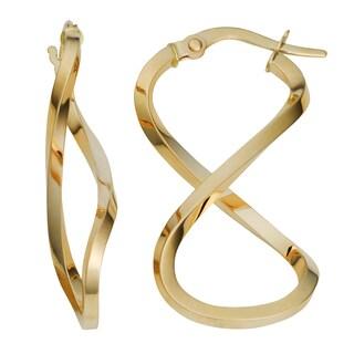 Fremada 10k Yellow Gold Infinity Hoop Earrings