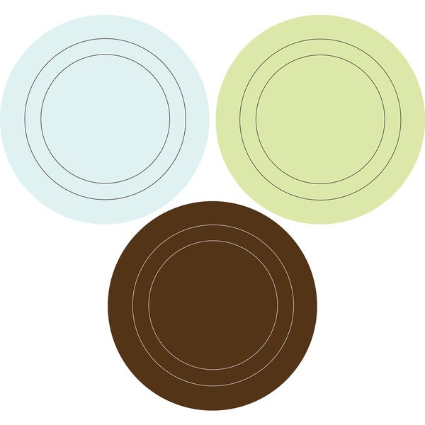 Blue/ Brown/ Green Concentric Dots