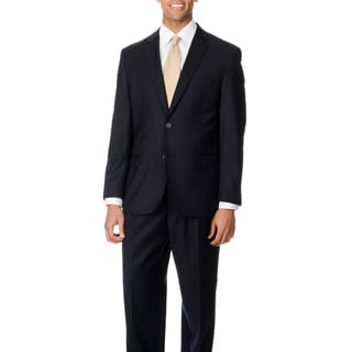 Caravelli Italy Men's Big & Tall 'Super 150' Navy 2-button Suit