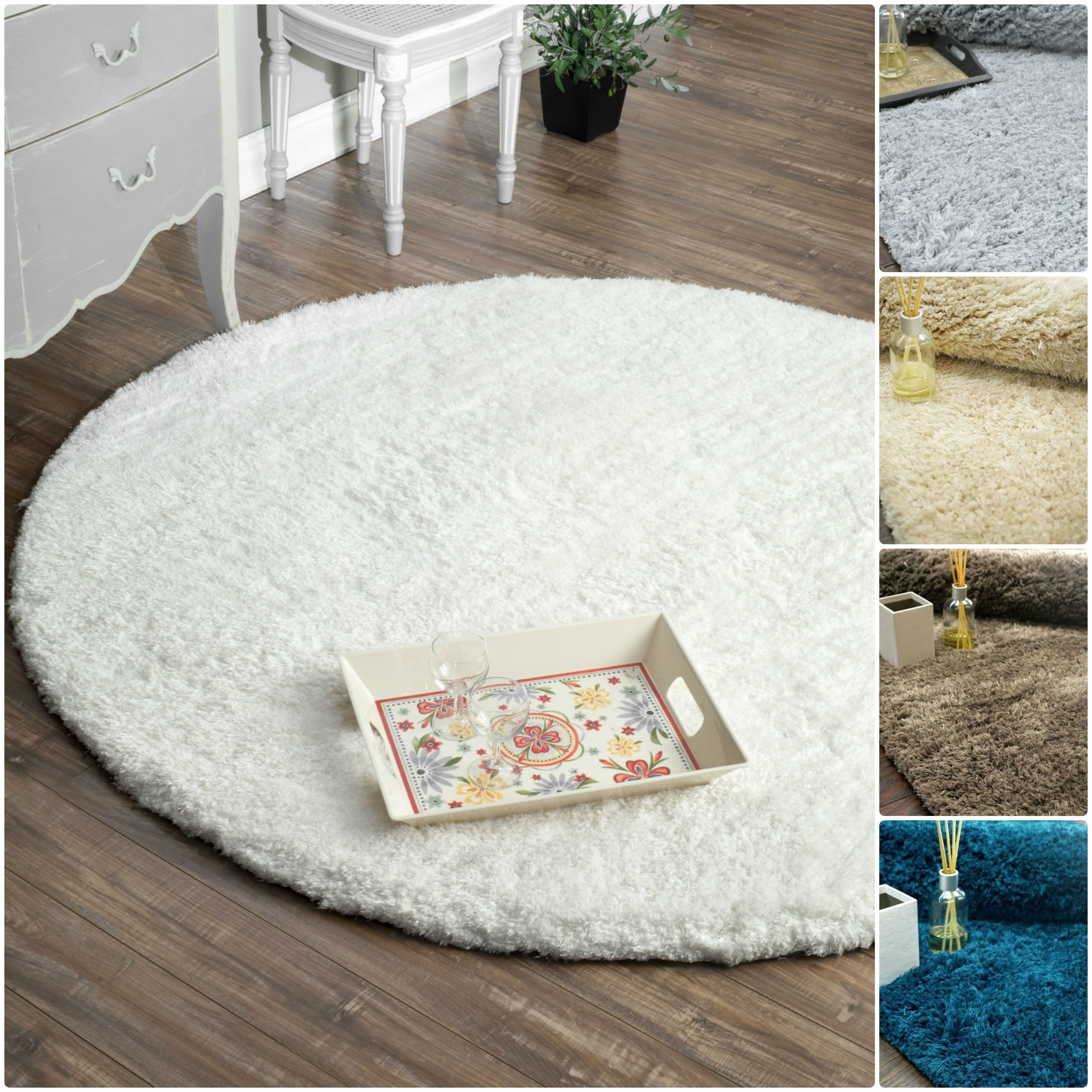 nuLOOM Handmade Solid Soft Plush Shag Rug (6' Round) at Sears.com